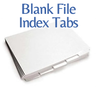 blank file index tabs