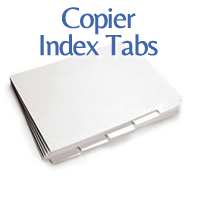 copier index tabs